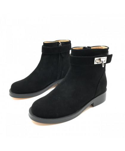 Ботинки Givenchy замшевые низкие черные