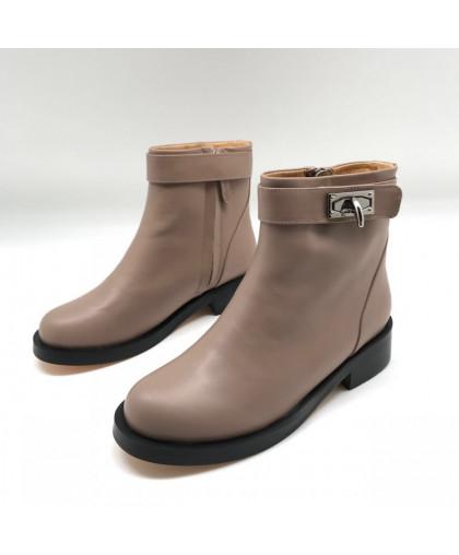 Ботинки Givenchy кожаные низкие бежевые