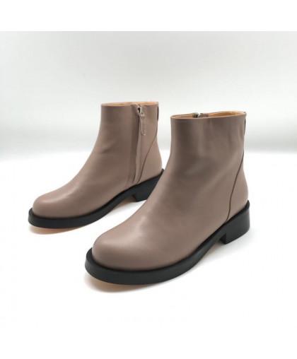 Ботинки Givenchy кожаные бежевые на молнии