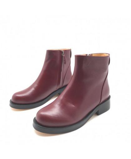 Ботинки Givenchy кожаные бордовые на молнии