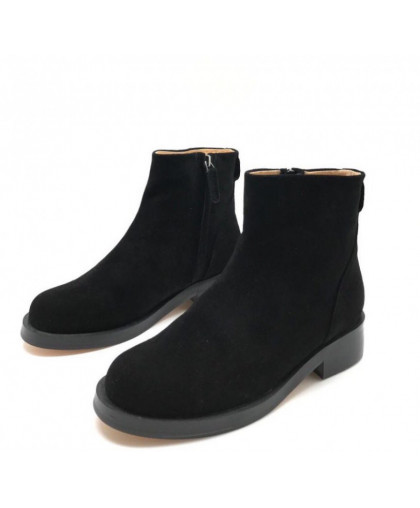Ботинки Givenchy замшевые черные на молнии