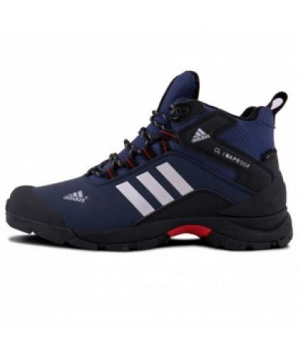 Зимние Adidas Terrex Climaproof High Blue/Black With Fur