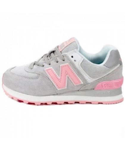 Женские New Balance 574 Gray/Pink