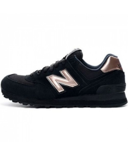 Женские New Balance 574 Black/Bronze