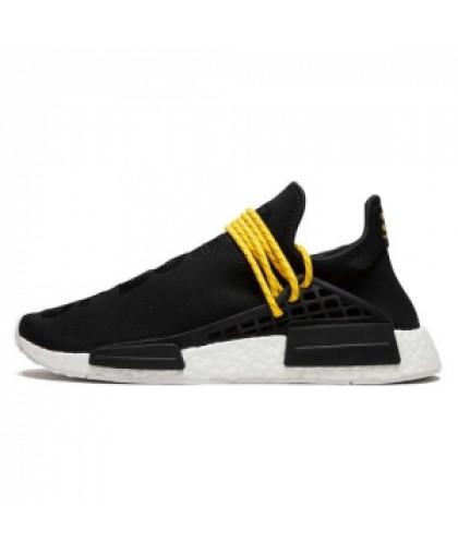 Мужские Adidas NMD Human Race Black/White/Yellow