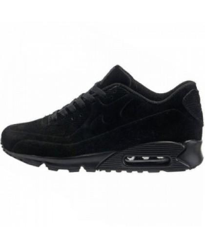 Зимние Nike Air Max 90 All Black With Fur