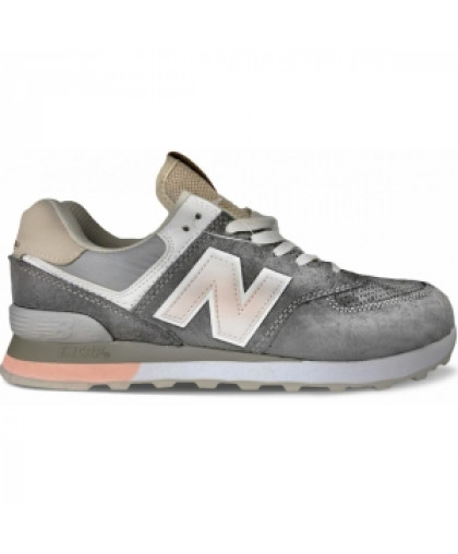 Женские New Balance 574 Pink/Grey