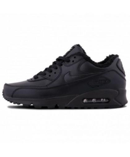 Зимние Nike Air Max 90 Black With Fur